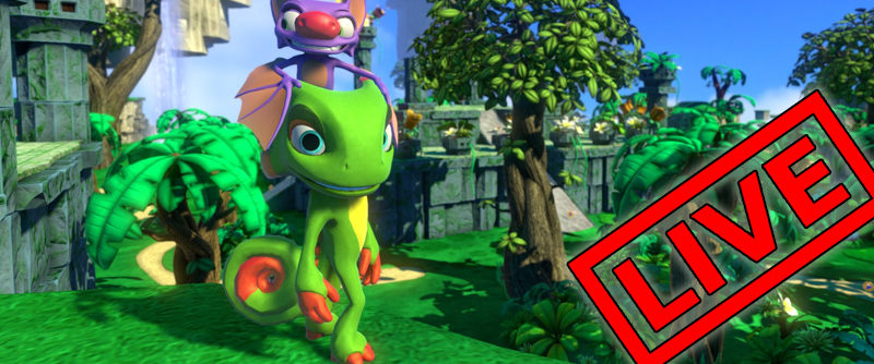 Yooka-Laylee in VR! with Mod: Platforming Fun? / HTC Vive Live Stream